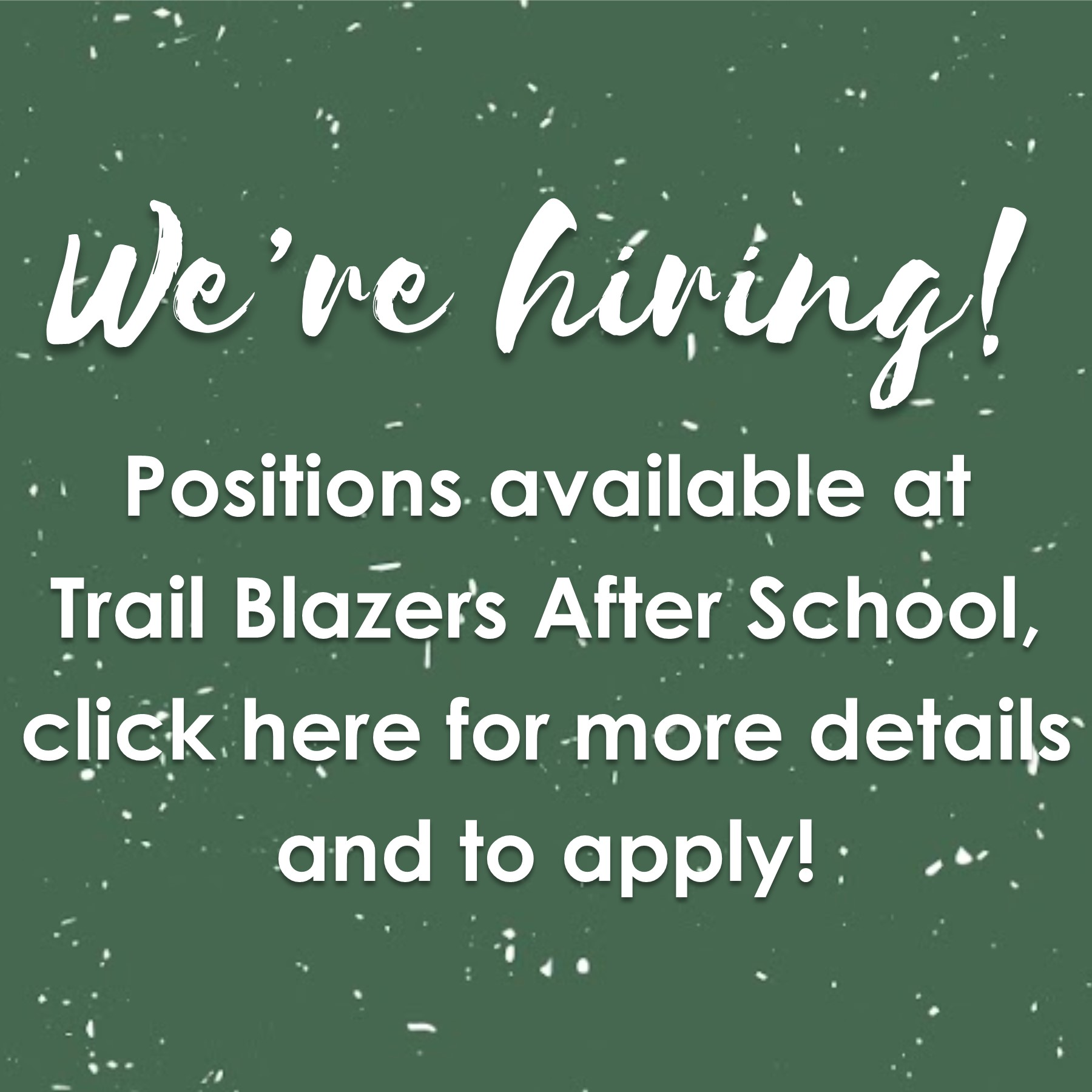 We're hiring for fall 2021
